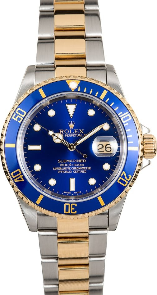 Blue Rolex Submariner 16613 x