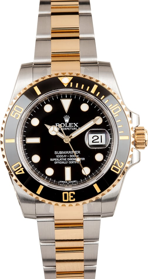 Unworn Rolex Submariner 116613 Black Dial
