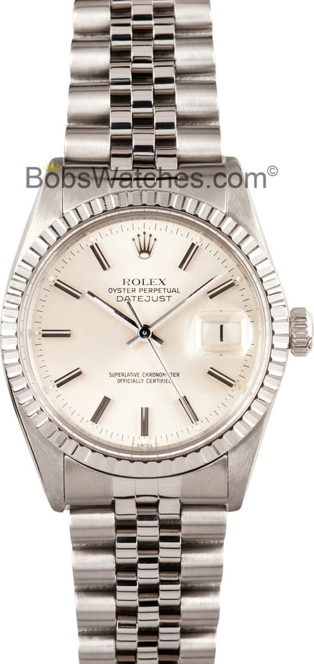 Rolex Men's Steel Datejust 16220