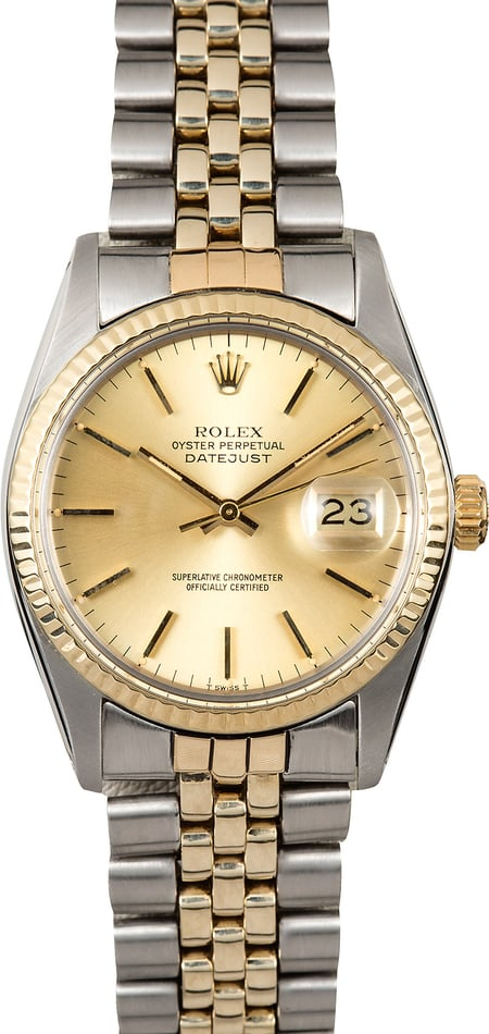 Datejust Rolex 16013 Champagne Dial
