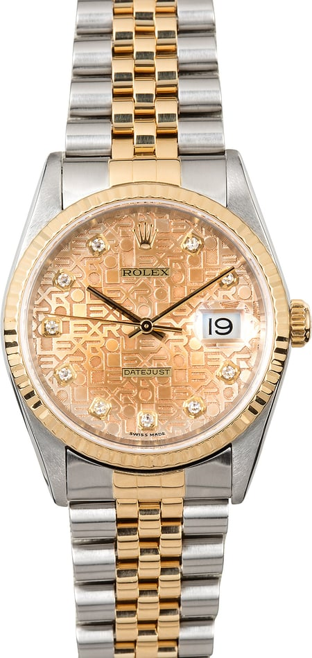 Datejust Rolex 16233 Diamond Jubilee Dial