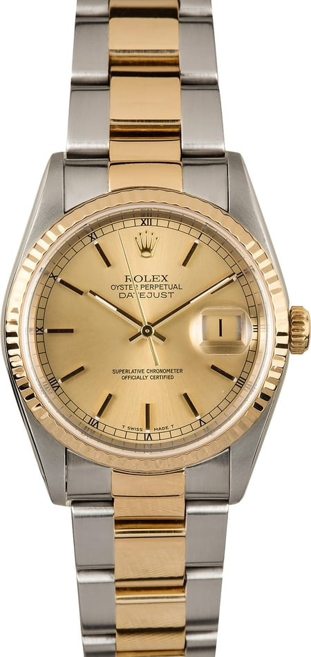 Datejust Rolex 16233 Two Tone Oyster