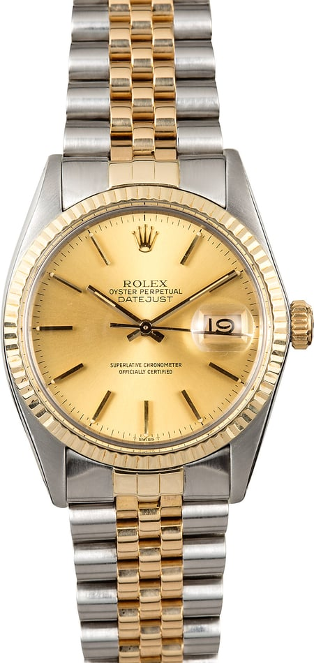 Datejust Rolex Model 16013 Two-Tone