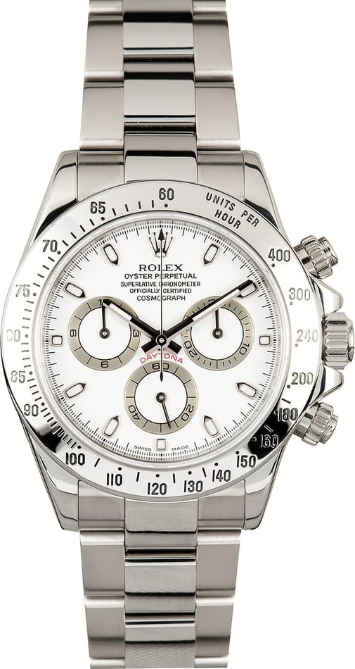 Daytona Rolex 116520 White Dial Stainless Steel