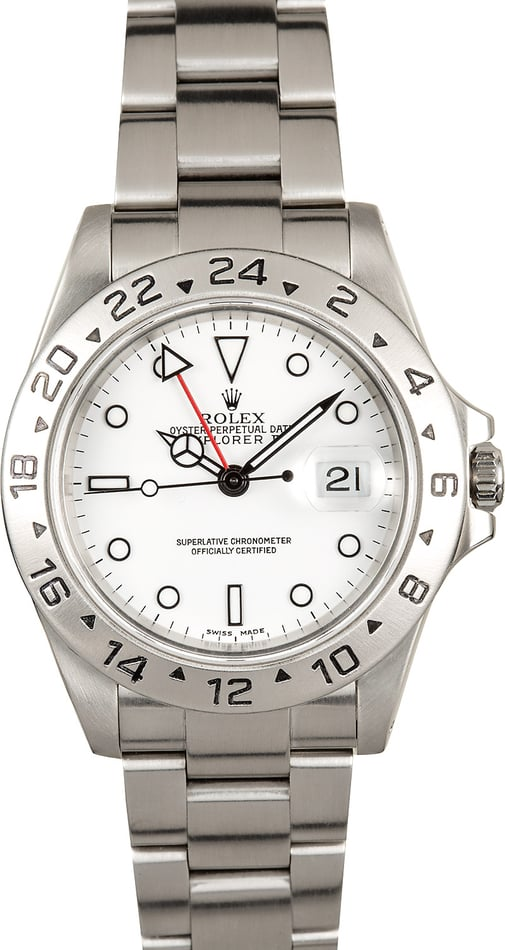 Explorer II Rolex 16570 Certified Pre-Owned