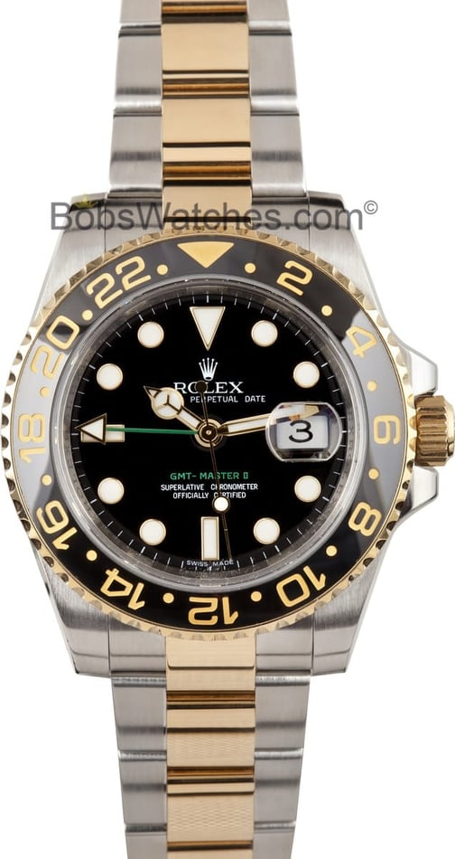 Rolex GMT Master II Ceramic Bezel Two-tone Watch
