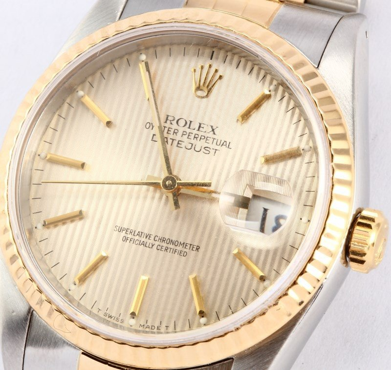 Rolex DateJust Jubilee Stainless and 18K Gold