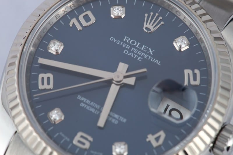 Men's Rolex Date Diamond Dial 115234