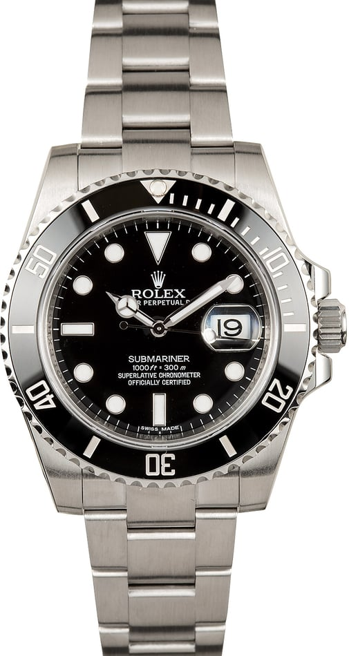 Certified Pre-Owned Rolex Submariner 116610 Ceramic Bezel