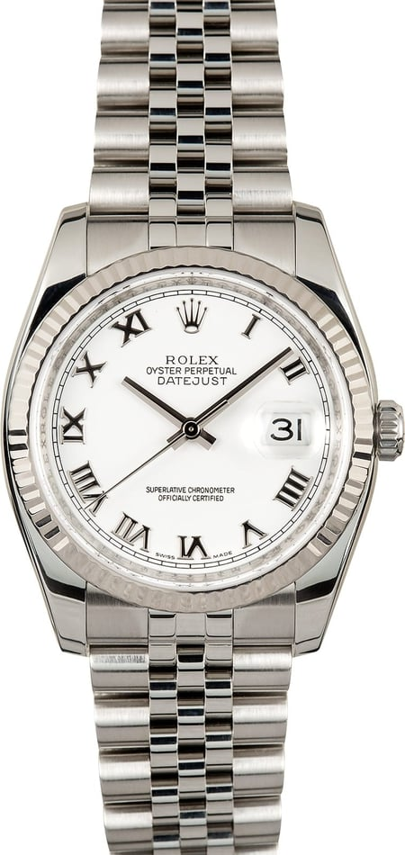 Rolex Datejust 116234 White Roman