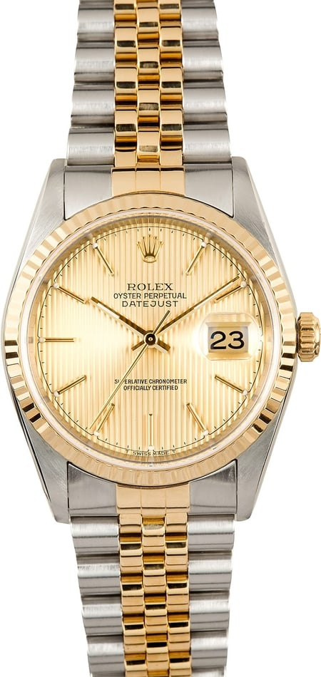 Rolex Datejust 16233 Champagne Tapestry