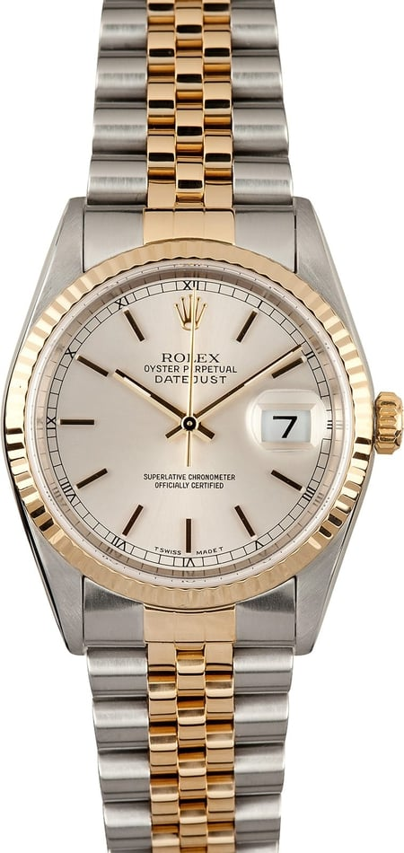 Rolex Datejust 16233 Silver Dial
