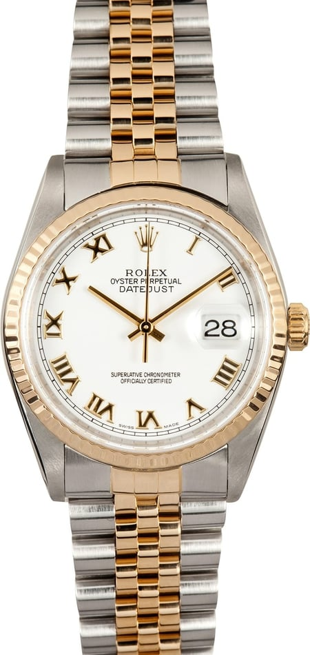 Men's Datejust 16233 White Roman Dial