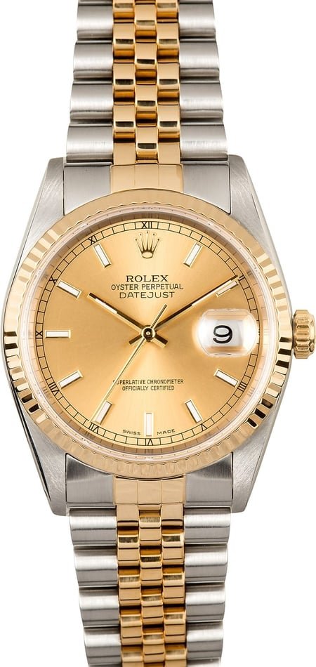 Rolex Datejust 16233 Jubilee Two Tone