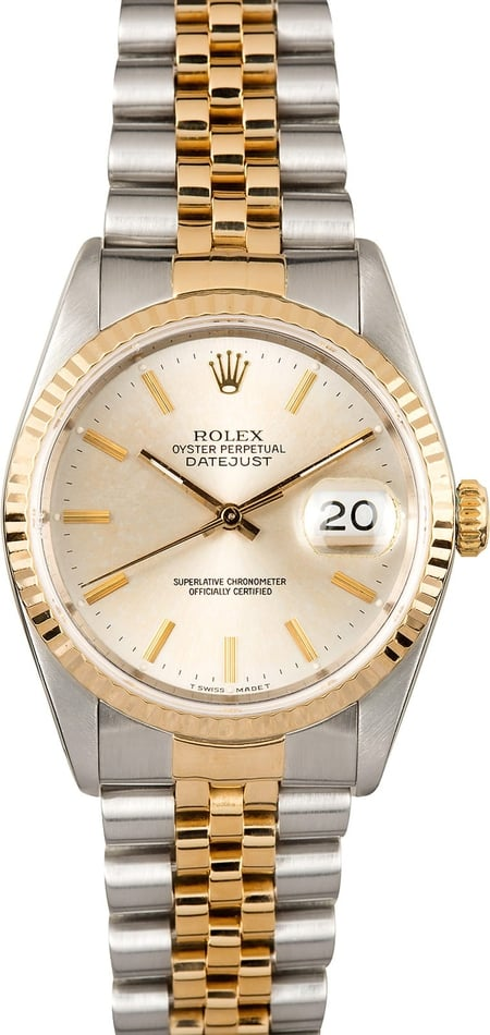 Rolex Datejust Silver Dial 16233