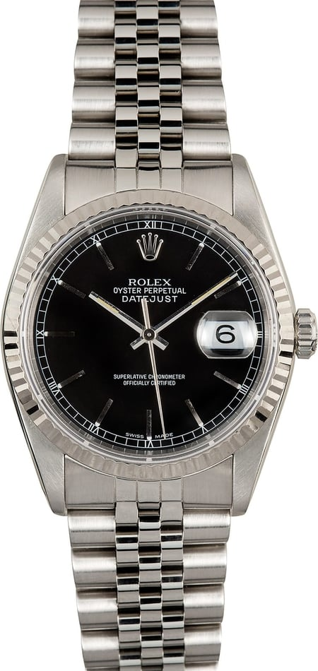 Rolex Datejust 16234 Black Index