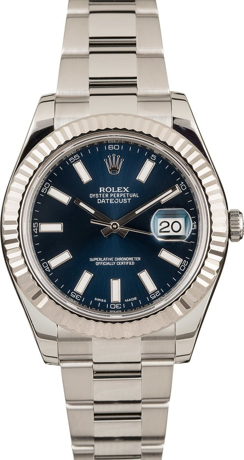 Rolex Datejust II Ref 116334 Stainless Steel Oyster