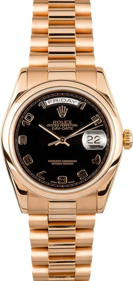Pre-Owned Mens Rolex President 18k Rose 118205
