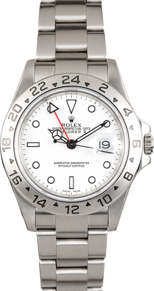 Men's Rolex Explorer II 16570 100% Genuine
