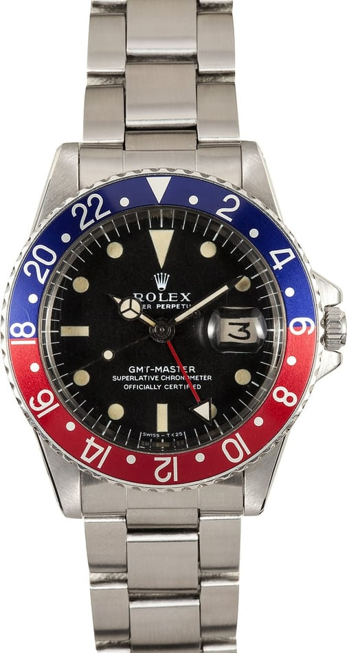 Rolex Vintage GMT 1675 Pepsi Red/Blue Bezel