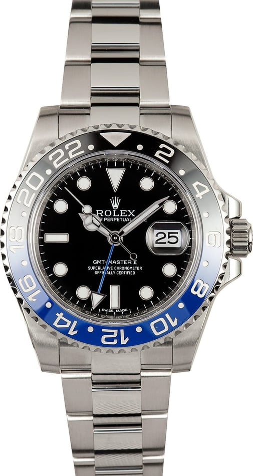 "Rolex GMT Master Blue/Black 116710B - ""Batman"""