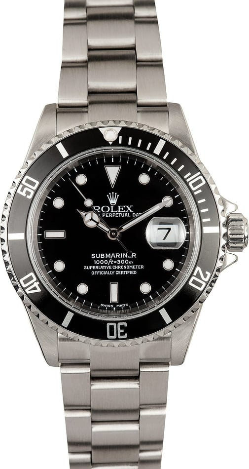 Rolex Submariner Black Dial 16610 Stainless