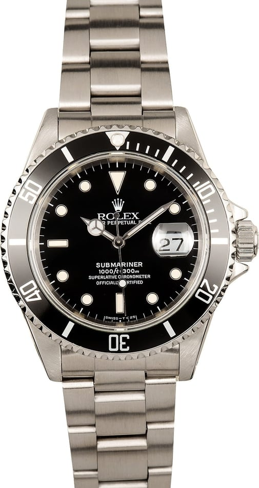 Rolex Submariner 16610 Black Pre-Owned