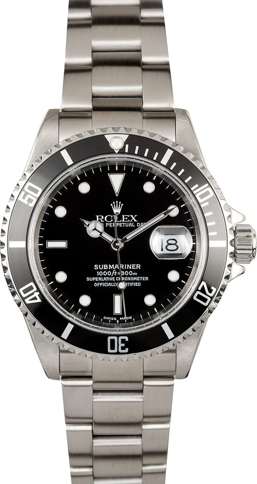 Submariner Rolex 16610 Black Pre-Owned
