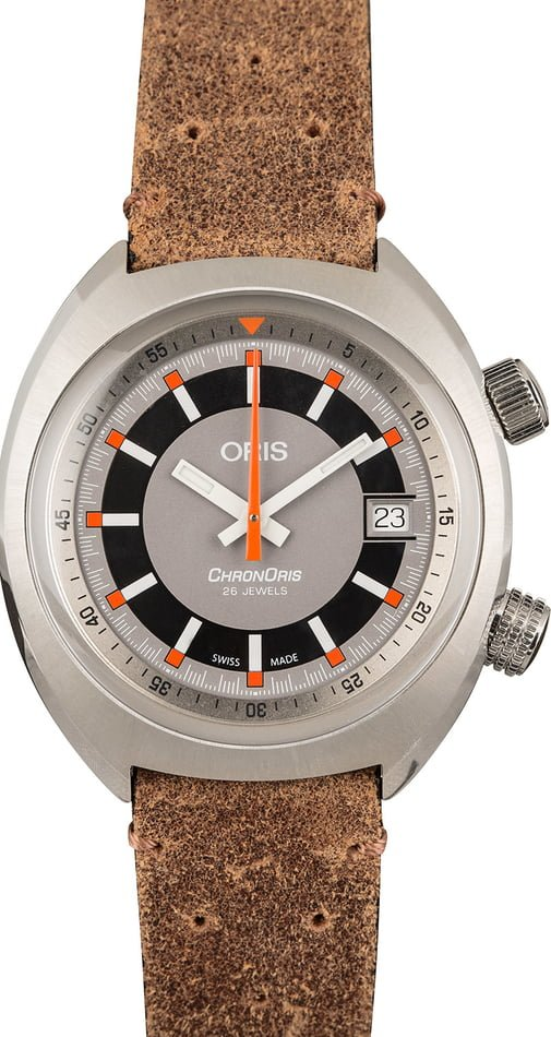 Oris Chronoris Date Leather Strap