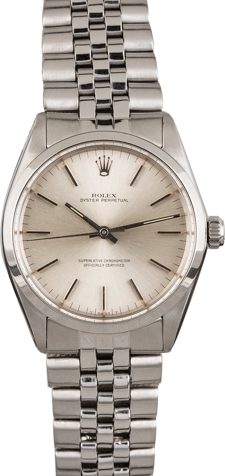 Pre Owned Rolex Oyster Perpetual 1003 Silver Dial