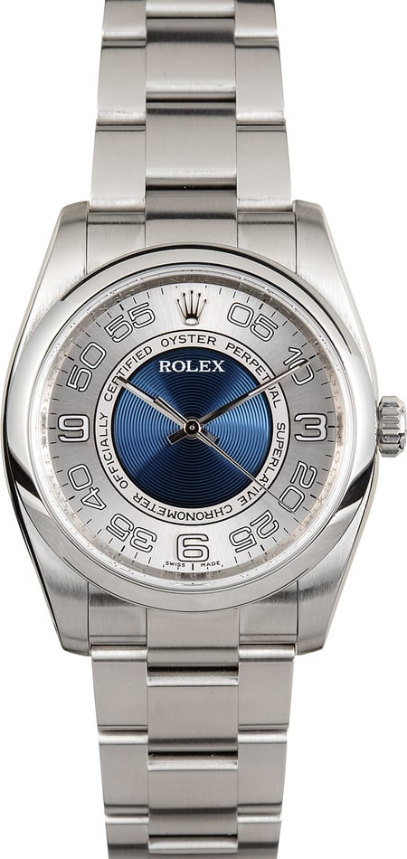 Oyster Perpetual Rolex 116000 Blue Concentric