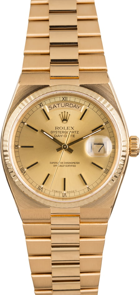 Pre Owned Rolex Men's OysterQuartz 19018