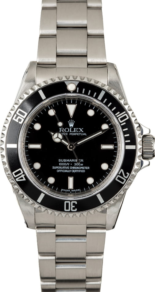 Rolex Submariner 14060 Serial Engraved No Date