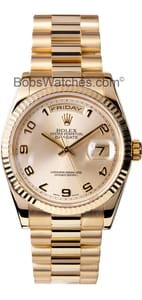 Used Rolex President Gold Day-Date 118238 Mens