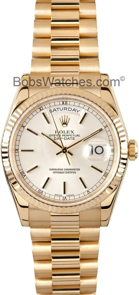 Used Rolex President Gold Day-Date 118238 Mens1