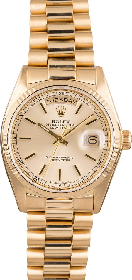 Pre Owned Rolex Presidential Day-Date 18038