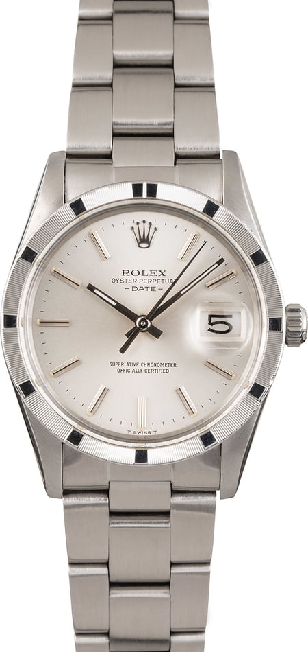 Pre Owned Rolex Date 15010 Stainless Steel