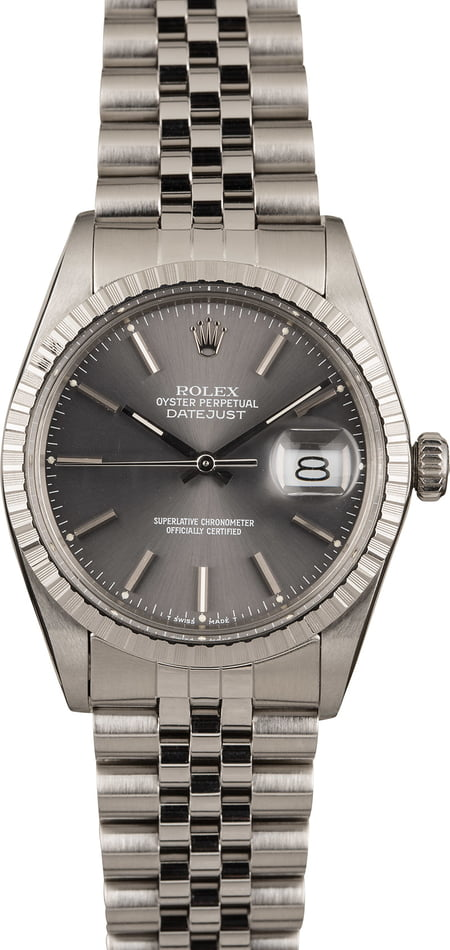 Pre Owned Rolex Datejust Stainless Steel 16000
