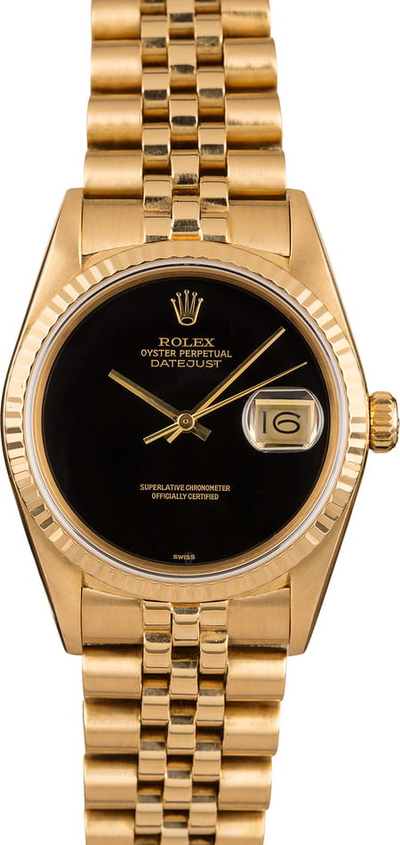 Pre-Owned Rolex Datejust 16018 Black Dial