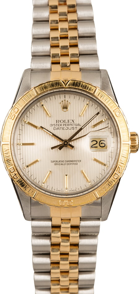Pre-Owned Rolex Thunderbird Datejust 16253 Tapestry