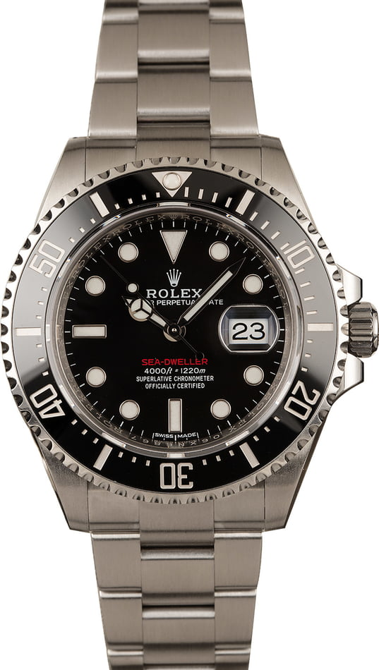 Pre-Owned Rolex 126600 Red Lettering Sea-Dweller Model