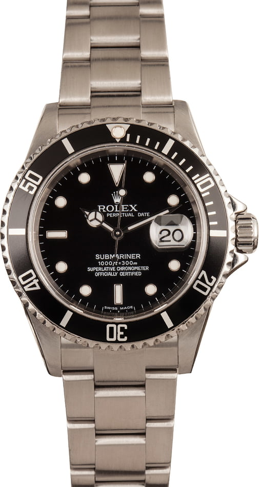 Used Rolex Steel Submariner 16610