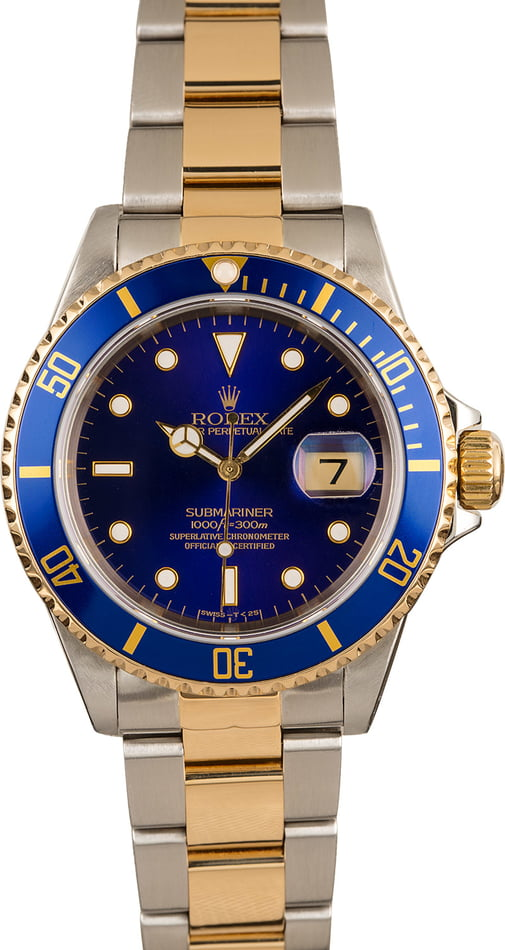 Pre-Owned Rolex Submariner Blue Bezel T