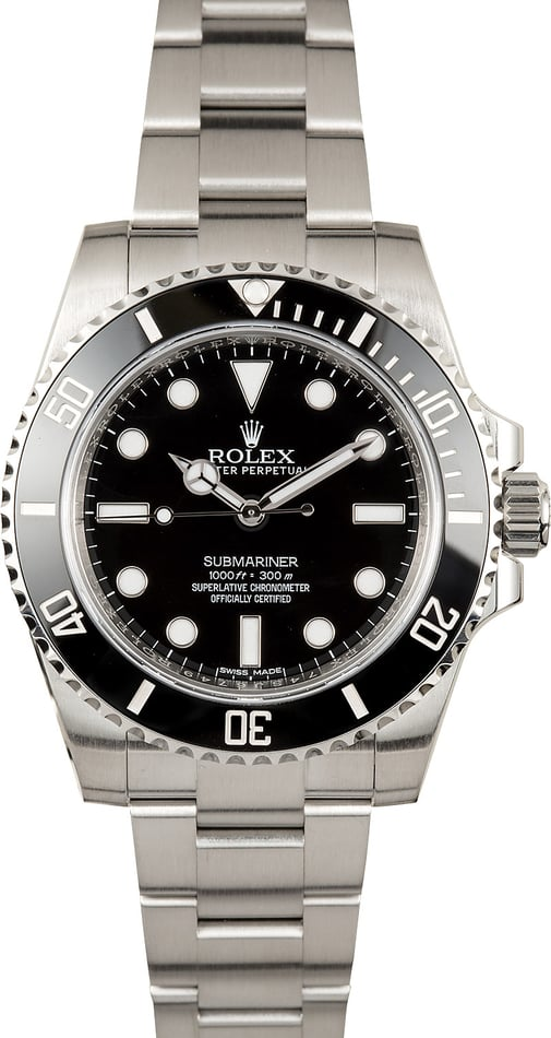 Rolex Black Submariner No Date 114060