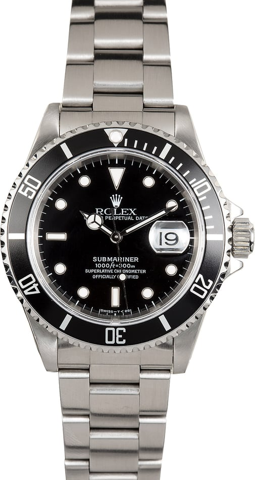 Rolex 16610 Black Oyster Submariner Stainless