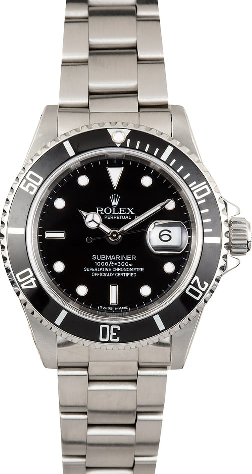 Rolex 16610 Steel Oyster Perpetual Submariner