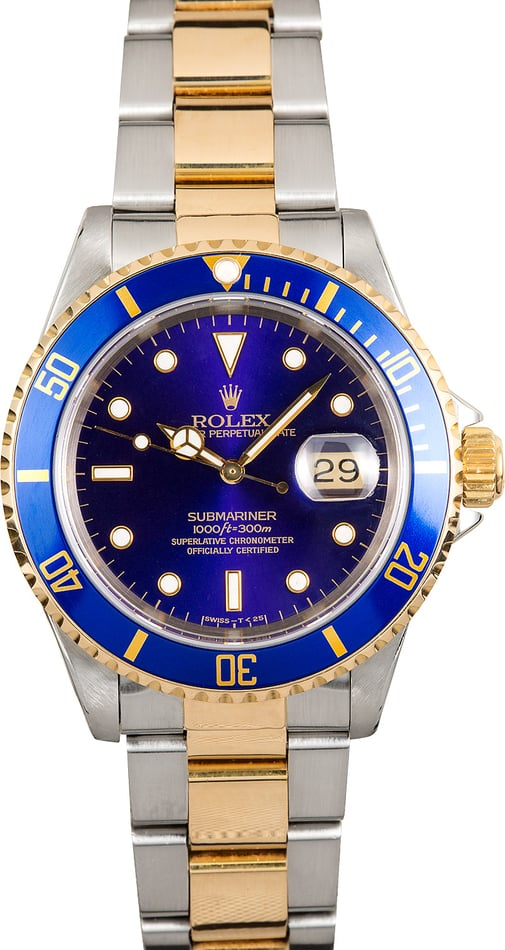 Rolex 16613 Two-Tone Submariner Blue