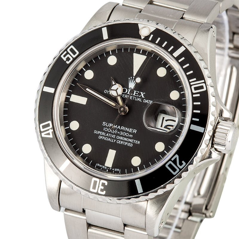 Rolex Submariner 16800 Black 100% Authentic