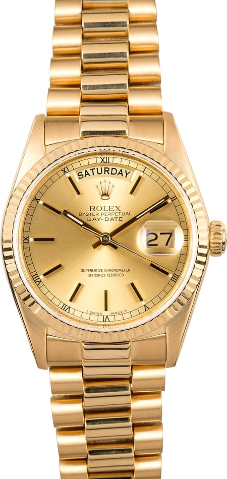 Rolex Presidential 18K Yellow Gold 18038