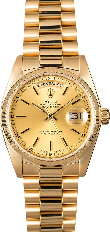 Rolex 18038 President Certified Pre-Owned
